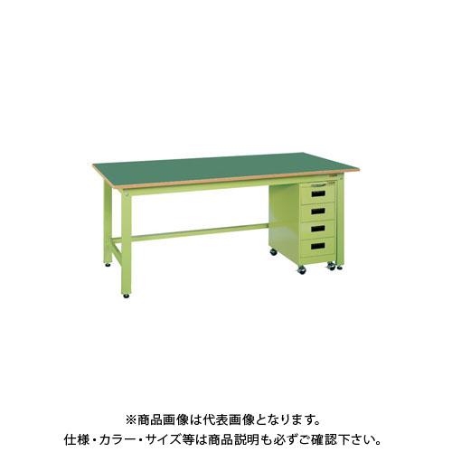 【直送品】サカエ 軽量作業台KKタイプ・キャビネットワゴン付 KKF-187K