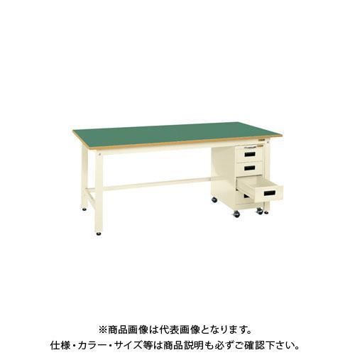 【直送品】サカエ 軽量作業台KKタイプ・キャビネットワゴン付 KKF-187KI