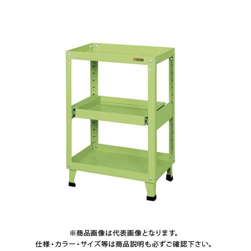 【直送品】サカエ スーパーワゴン(固定タイプ・スライド棚付) KMN-150S