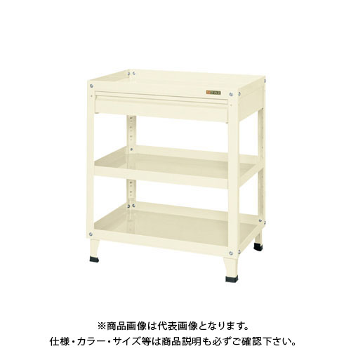 【直送品】サカエ スーパーワゴン固定タイプ(引出し付) KN-200CI