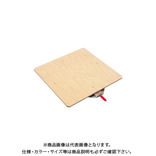 【直送品】サカエ クルクル回転盤・スチール製・合板天板 KS-60T