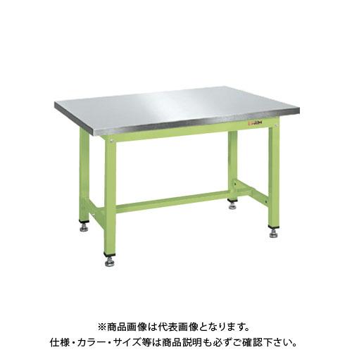 【直送品】サカエ 中量作業台KVタイプ(ステンレスカブセ天板) KV-383PCSU4