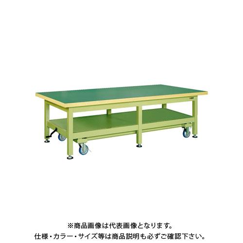 【直送品】サカエ 超重量作業台KWCタイプ・ハンドル昇降移動式 KWCF-2412