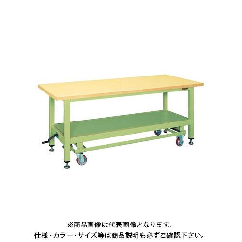 【直送品】サカエ 超重量作業台KWCタイプ・ハンドル昇降移動式 KWCG-12