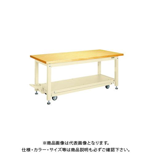 【直送品】サカエ 重量作業台KWCタイプ・ペダル昇降移動式 KWCG-188I