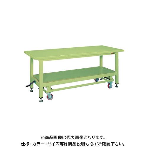 【直送品】サカエ 超重量作業台KWCタイプ・ハンドル昇降移動式 KWCS-18