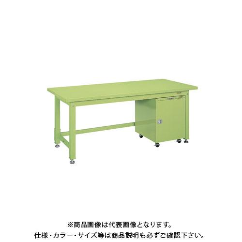 【直送品】サカエ 重量作業台KWタイプ・キャビネットワゴン付 KWS-158F