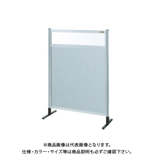 【直送品】サカエ パーティション 透明塩ビ(上) アルミ板(下)タイプ(単体) NAE-34NT