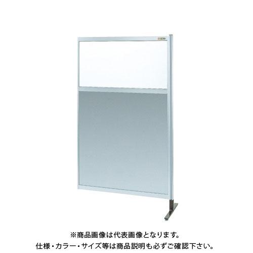 【直送品】サカエ パーティション 透明塩ビ(上) アルミ板(下)タイプ(連結) NAE-35NR