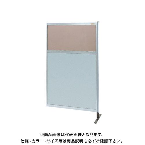 【直送品】サカエ パーティション 透明カラー塩ビ(上) アルミ板(下)タイプ(連結) NAK-55NR