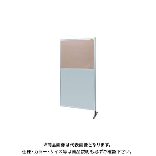【直送品】サカエ パーティション 透明カラー塩ビ(上) アルミ板(下)タイプ(連結) NAK-36NR