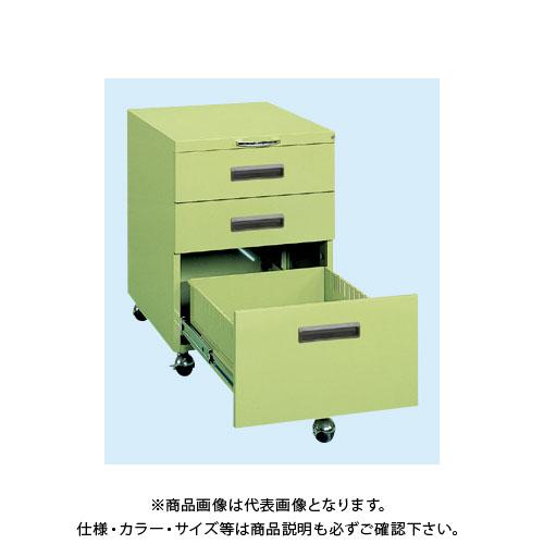 【直送品】サカエ 作業台用キャビネットワゴン NW-3CB