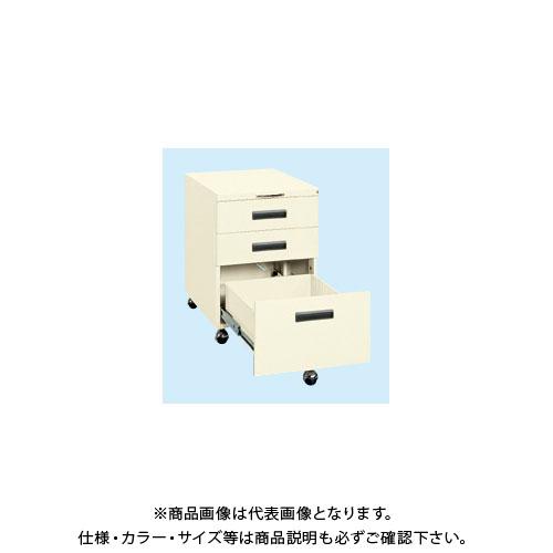 【直送品】サカエ 作業台用キャビネットワゴン NW-3CBI