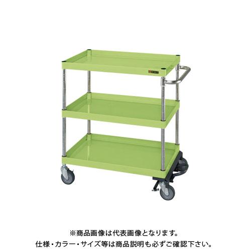 【直送品】サカエ ニューパールワゴンフットブレーキ付 PKR-200MBRN