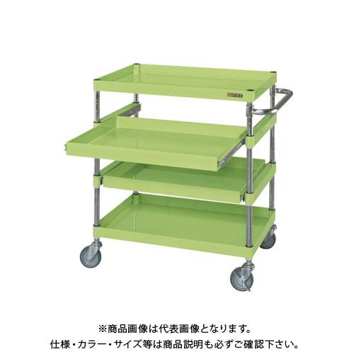 【直送品】サカエ ニューパールワゴンスライド棚タイプ PKR-4A