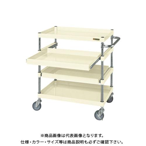 【直送品】サカエ ニューパールワゴンスライド棚タイプ PKR-4AI