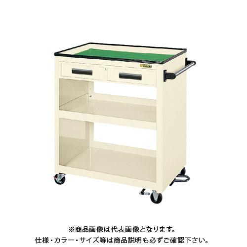 【直送品】サカエ パネルワゴン(フットブレーキ付) PKW-4CBRI