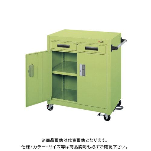 【直送品】サカエ パネルワゴン(フットブレーキ付) PKW-7ABR