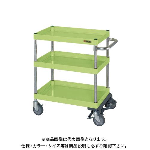 【直送品】サカエ ニューパールワゴンフットブレーキ付 PMR-150MBRN
