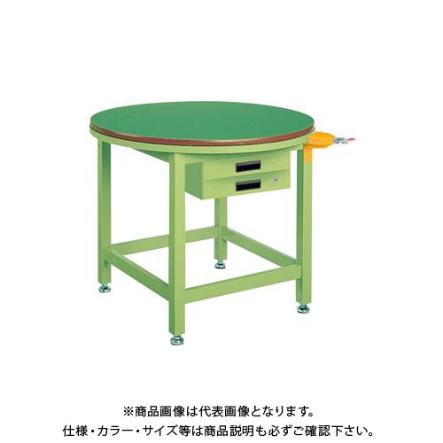 【直送品】サカエ 回転作業台(ストッパー・キャビネット付) RT-900FBSP