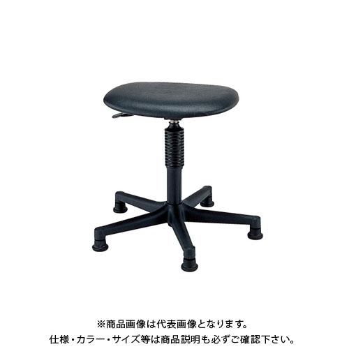 【直送品】サカエ ワークチェアー S1P-BKN