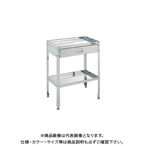 【直送品】サカエ ステンレススペシャルワゴン(固定式・引出し付) SBN4-12SU