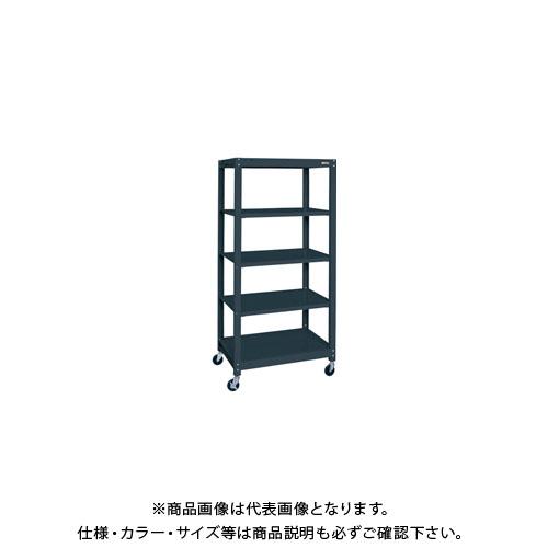 【直送品】サカエ スチールラック(キャスター付・ゴム車) SLN-1255RD