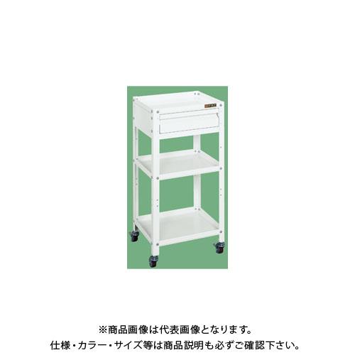 【直送品】サカエ スペシャルワゴン引出し付(パールホワイト) SPE-11W