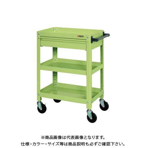 【直送品】サカエ スーパースペシャルワゴン・引出し付 SSW-112RC
