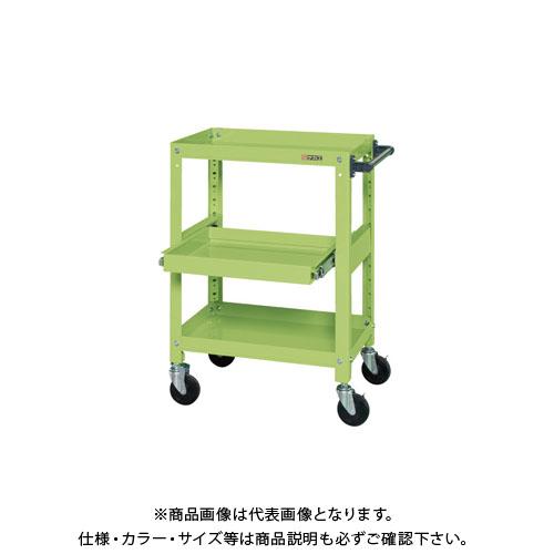 【直送品】サカエ スーパースペシャルワゴン・スライド棚付 SSW-112S