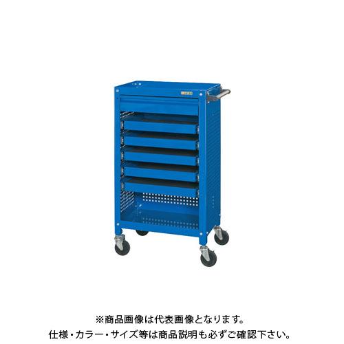【直送品】サカエ 工具収納ワゴン SSW-116S5C3BL