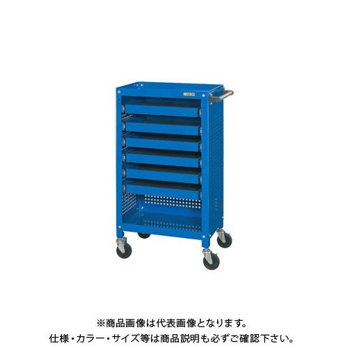 【直送品】サカエ 工具収納ワゴン SSW-116S6P3BL