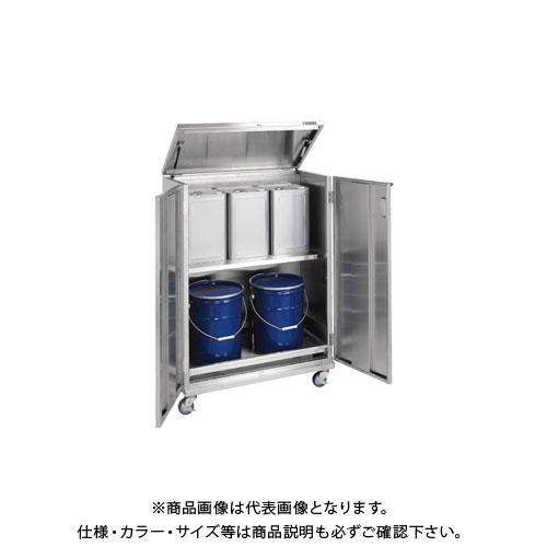 豪華 KYS ステンレス 【直送品】サカエ SU-ITKNAR:KanamonoYaSan  一斗缶保管庫-エクステリア・ガーデンファニチャー