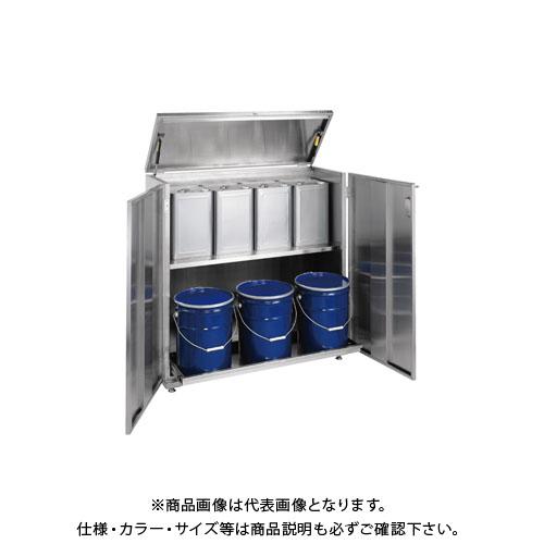 【直送品】サカエ ステンレス 一斗缶保管庫 SU-ITKNB