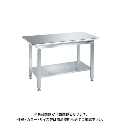【直送品】サカエ ステンレス作業台(天板R付)・中板2枚付 SUS3-096T2R