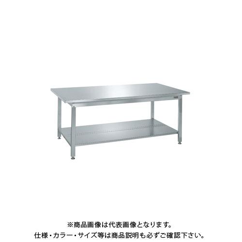 【直送品】サカエ ステンレス作業台・中板2枚付 SUS4-187T2N