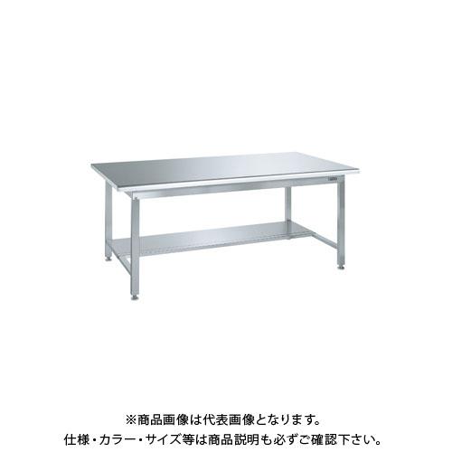 【直送品】サカエ ステンレス作業台(天板R付)・中板1枚付 SUS4-187TR