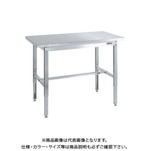 【直送品】サカエ ステンレス高さ調整作業台(ステンレスカブセ天板仕様) SUT4-157HC