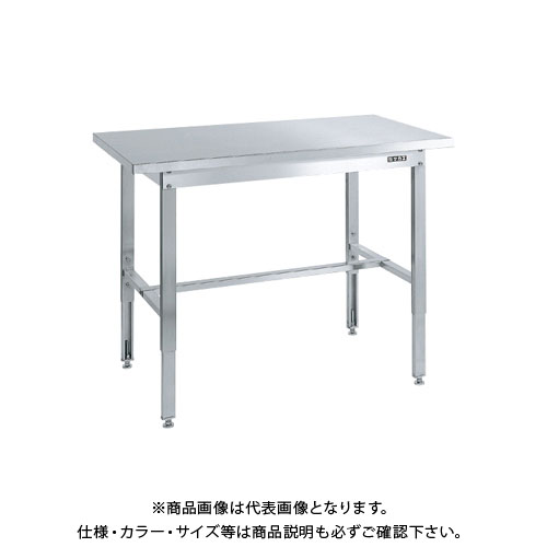 【直送品】サカエ ステンレス高さ調整作業台(ステンレスカブセ天板仕様) SUT4-127PC