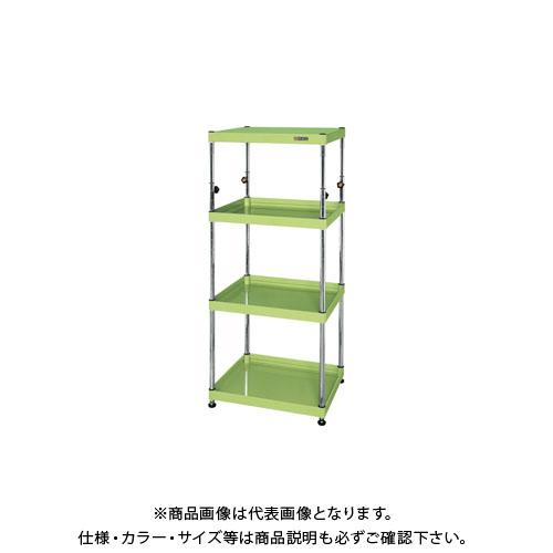 【直送品】サカエ ニューCSパールワゴン固定タイプ(高さ調整) TCSPN-6012