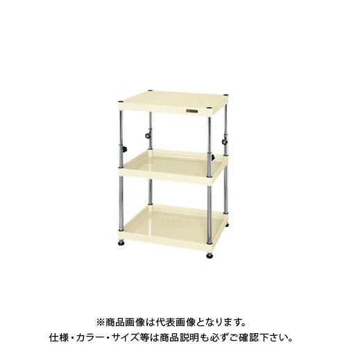 【直送品】サカエ ニューCSパールワゴン固定タイプ(高さ調整) TCSPN-758
