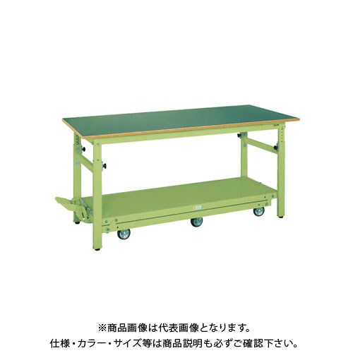 【直送品】サカエ ペダル昇降移動式作業台・軽量TKKタイプ TKK-187Q6FPD