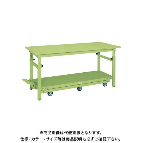 【直送品】サカエ ペダル昇降移動式作業台・軽量TKKタイプ TKK-187Q6SPD
