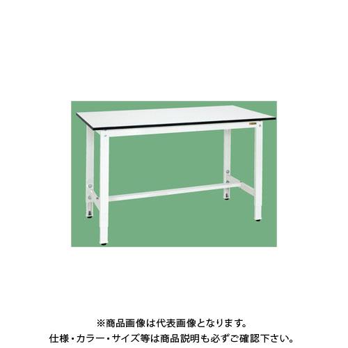 【直送品】サカエ 軽量高さ調整作業台(パールホワイト) TKK8-157LW