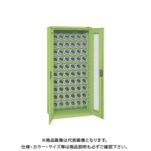 【直送品】サカエ SAKAE 大型ツーリング保管庫 (6個×10段) 832×450×1760 グリーン TLG-AS73A