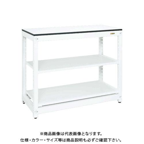 【直送品】サカエ SAKAE マルチプルラック天板付(固定式・コンテナ無) 1250×570×1020 ホワイト MR-10ATL