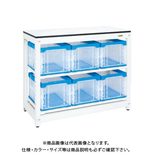 【直送品】サカエ SAKAE マルチプルラック天板付(固定式) 1250×570×1020 ホワイト MR-1050BTL