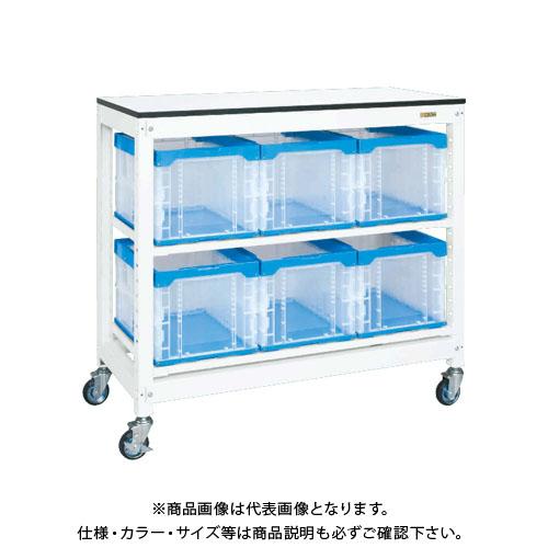 【直送品】サカエ SAKAE マルチプルラック天板付(移動式) 1250×570×1145 ホワイト MR-1050BTLC