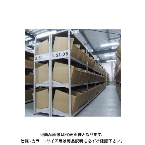 【運賃見積り】【直送品】サカエ SAKAE 傾斜棚 連結タイプ H1800×W1800 アイボリー WSKT1818L04R