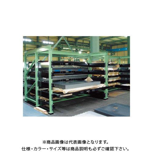 【運賃見積り】【直送品】サカエ SAKAE スライドラック 5段 4'×8'用 TFSR20-2005BT